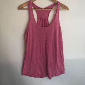 Lululemon Salute The Sun Singlet Heathered Pink 8